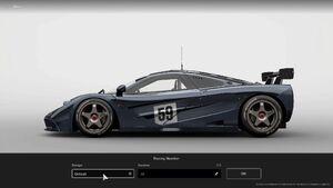 GTS McLaren F1 GTR Racing Number Default