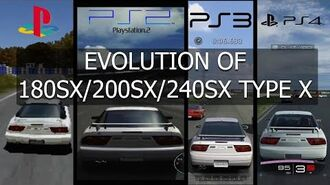 Gran Turismo Evolution of Nissan 180SX 200SX 240SX Type X 96'-0