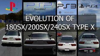 Gran Turismo Evolution of Nissan 180SX 200SX 240SX Type X 96'-0