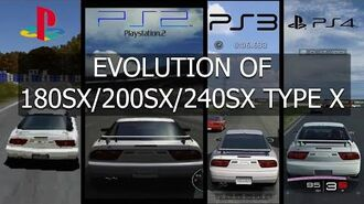 Gran Turismo Evolution of Nissan 180SX 200SX 240SX Type X 96'