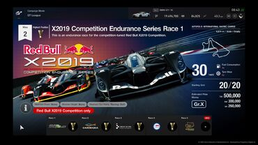 X2019 Competition Endurance