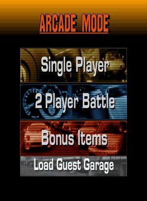 Arcade Mode Menu (GT2)