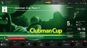 Gran Turismo®SPORT Clubman Cup