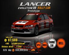 Mitsubishi Lancer Evolution VII Rally Car Prototype