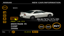 Nissan SKYLINE GTS-25t Type M (R33) back