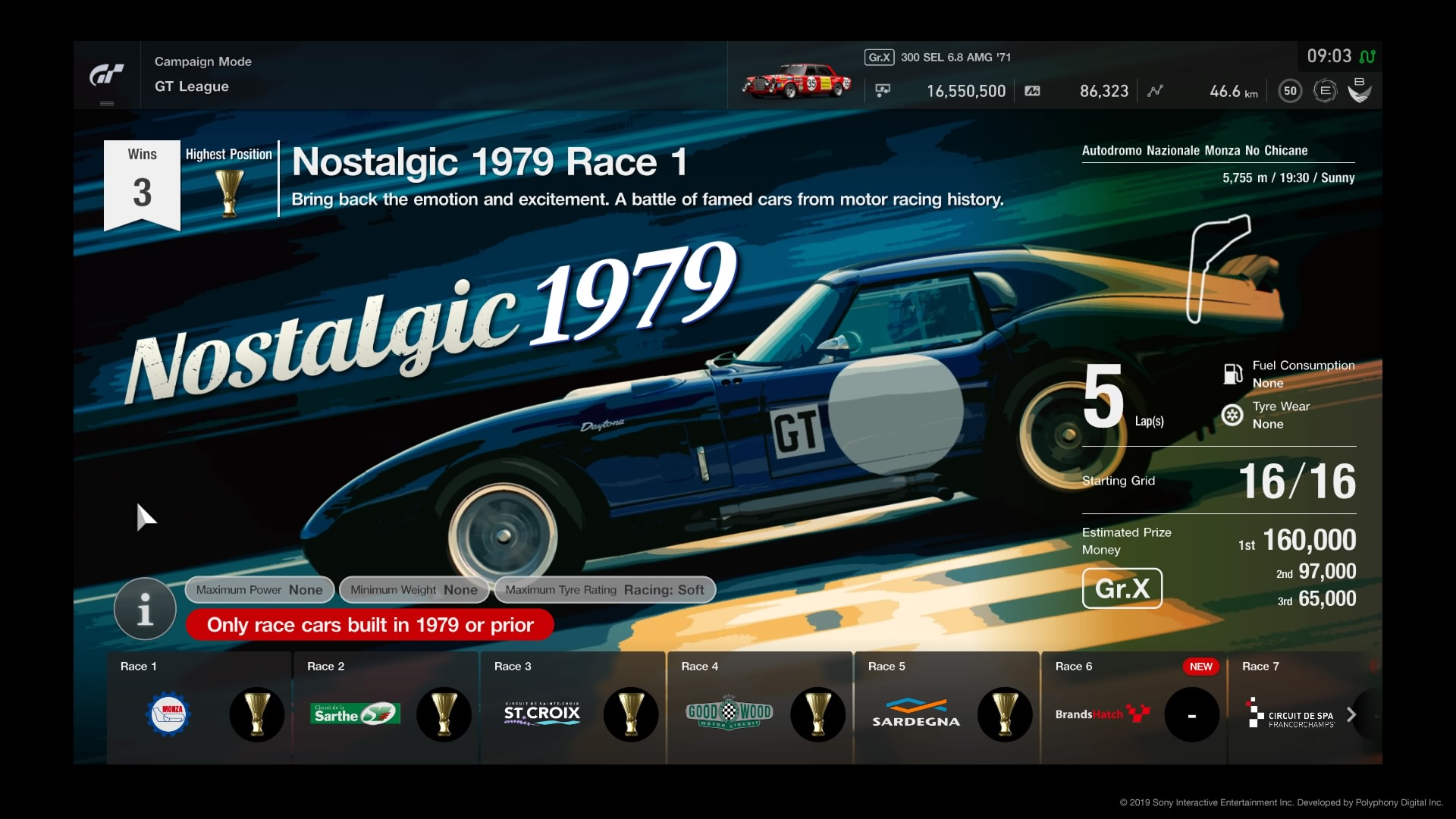Nostalgic 1979 Is A 3 Race Event That Ears In Gran Turismo Sport It Was Added To Gt League Mode Update V1 25 The Housed Professional