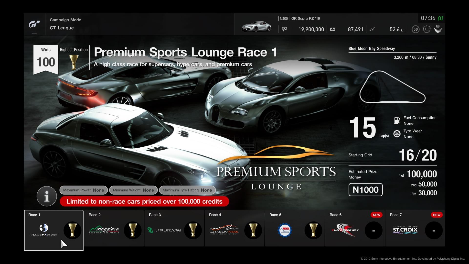 Gran TurismoRSPORT Premium Sports Lounge