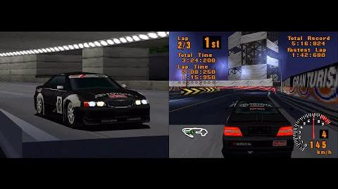 Gran Turismo (PSX) - Toyota Chaser LM Dual screen replay gameplay Full HD 1080p