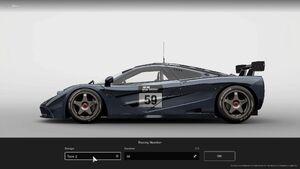 GTS McLaren F1 GTR Racing Number