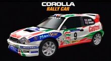 Corolla rally car