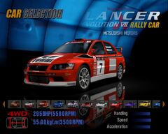 Mitsubishi Lancer Evolution VII Rally Car '01