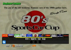 80s Sports Car Cup (Beginner)