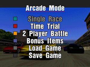 Arcade Mode Menu (GT1)