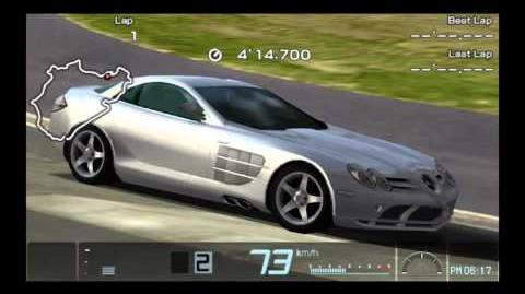 Gran Turismo PSP Mercedes Benz SLR Mclaren'03 Time Trial Nurburgring Nordschleife