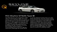 Nissan SKYLINE GTS-25t Type M (R33) info