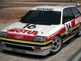 Honda MUGEN MOTUL CIVIC Si Race Car '87