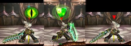 傑洛-劍、防禦、進攻姿態