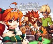A história dos personagens