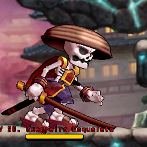 Guerreiro Esqueleto no <a href=