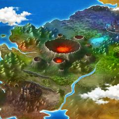 Antigo Mapa antes do Império de Astaroth