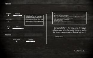 The Options Menu (PC version) as of [[Version 1.7|Version 1.2]]]]