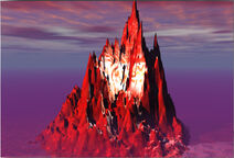 Rendered mountain