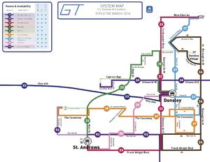 Donsley GRT Map