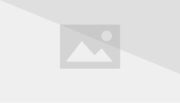 """Photo of bubble chamber tracks next to diagram of same tracks. A neutrino (unseen in photo) enters from below and collides with a proton, producing a negatively charged muon, three positively charged pions, and one negatively charged pion, as well as a neutral lambda baryon (unseen in photograph). The lambda baryon then decays into a proton and a negative pion, producing a """"V"""" pattern."""