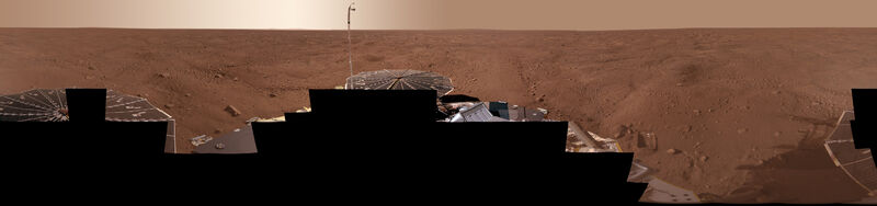 Mars; Phoenix color pano