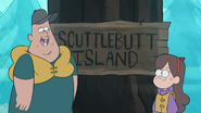 S1e2 Scuttlebutt island sign