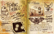 Journal Page Floating Eyeballs
