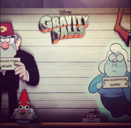 Disney TVA Gravity Falls Halloween 2014 Poster Board