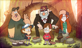 Opening Main characters of Gravity Falls