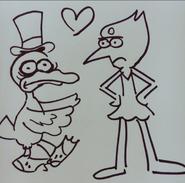 Perla y Scrooge McDuck por Alex Hirsch