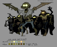S2e1 zombie group production art