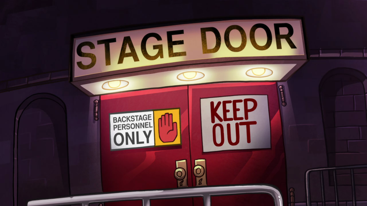S1e17 stage door.png & Image - S1e17 stage door.png | Gravity Falls Wiki | FANDOM powered ...