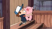 S1e17 Dipper joyfully hugging Waddles