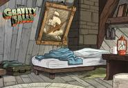 Game postcard creator dipper's bed