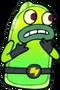 Little green man appearance