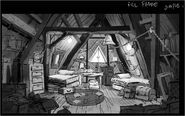 Concept dipper and mabels room development