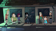 S1e5 everyone is in front of the store