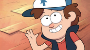 S1e5 dipper holding up hand