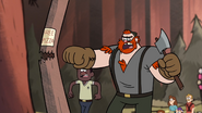 S1e3 manly dan punching pole