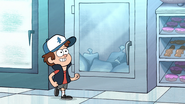 S1e5 dipper walking to the ice freezer