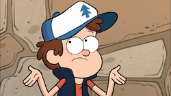 S1e9 Dipper putting arms in air