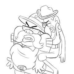 Зарисовка застрявших Шерифа Блабса и Заместителя Дурланда.