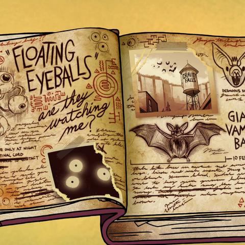 Видна на странице с гигантскими летучими мышами-вампирами.