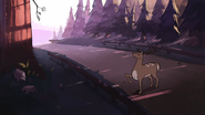 S1e2 deer in road