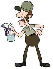 Lake Gravity Falls Ranger McGucket's appearance
