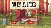 Mystery Rummel win a pig